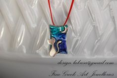 Necklace Cat Moon Silver 925 White by LakasaEshopDesign on Etsy