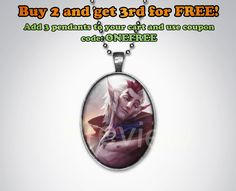 Rakan League of Legends Keychain or Pendant Oval League of
