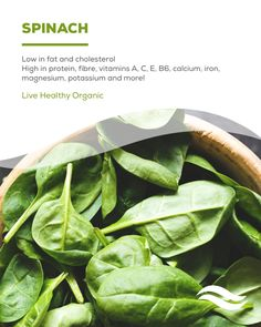 There are so many nutrients in spinach.