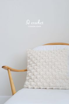 Bobble stitch cushion cover - free pattern @ Yvestown