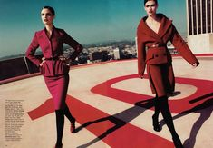 Kendra & Katie Try on The New Shapes for Harpers Bazaar US - Fashion Gone Rogue: The Latest in Editorials and Campaigns