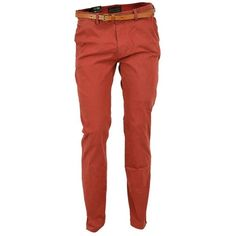 Scotch Soda Slim Fit Chino ($115) ❤ liked on Polyvore featuring pants, men, menswear, trousers, chino trousers, red slim pants, slim fit trousers, chino pants and red trousers