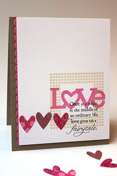 Fairytale Love Card by Heather Nichols for Papertrey Ink (December 2013)