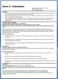 temporary administrative assistant resume - Resume Of Office Assistant