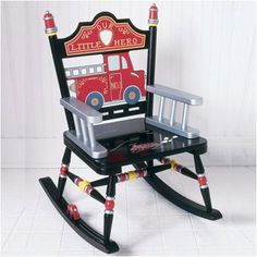 Levels of Discovery Rock A Buddies Fire Engine Kid Rocking Chair | Wayfair