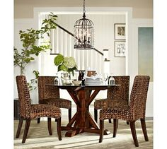 Pottery barn tackle with white chairs- I need this