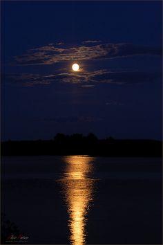Moonlight On The Lake.