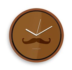 Kikkerland Design Inc » Products » Wall Clock + Mustache