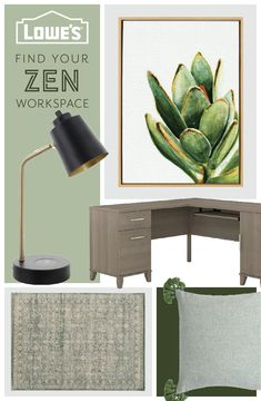 Keep stress at bay while you WFH with calming colors and an organized workspace.