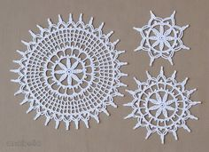 Lovely crochet lace by Anabelia Craft Design