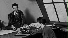 Elisabeth Hauptmann and Bertolt Brecht working on Threepenny