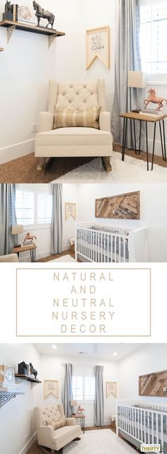 Natural and Neutral Nursery Decor