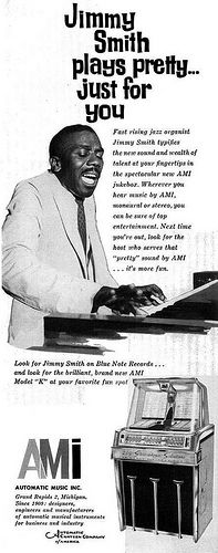 Jimmy Smith for AMI Jukebox Advertisement - Ebony Magazine, January, 1960 | by vieilles_annonces