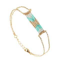 Caroline Najman - Bracelet Caroline Najman #Folk #Mint #Bracelet