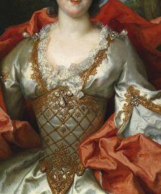 """""""Portrait of a Woman"""" (1739) (detail) by Nicolas de Largillière (1656-1746)."""