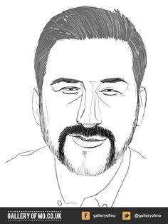 Portrait from 2011's Gallery of Mo. Martin Delin donated £30.00 to Movember and had a portrait created by Rich Orr. www.galleryofmo.co.uk