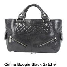 Celine Boogie bag Celine boogie bag in black distressed leather Celine Bags Satchels