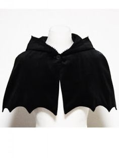 Lovely velvet Bat Cape