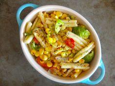Salt-Free Corn and Brussels Pasta