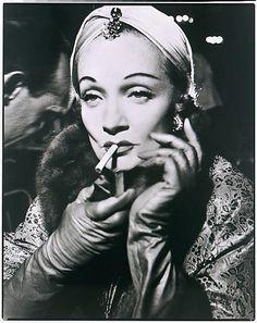 Dietrich dons Dior turban, by Richard Avedon 1955