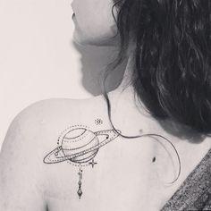 """hello world #saturn #tattoo #bicemsinik heya!"" Photo taken by @littlecelebration on Instagram"
