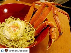 Wow!!  @anthoni.foodlab thank you for your nice pic. ______________________ #Repost  Kani Ramen #homemade @anthoni.foodlab  Feat. Steamed Crab legs futo men (thick noodles) @sansoteiramen egg yolks truffle oil egg white crab cake and natural au jus.  How do you think about my amuse bouche?  If you like the Nigori Sake heres my next dish for you to pair with.  I was at T & T Supermarket the other day and found this lonely carb on sale. Therefore I just pick this up at the store and decided to…