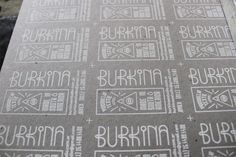 Burkina's Screenprinting Business Card by Emiliano Aranguren, via Behance