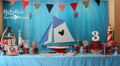 """Photo 10 of 32: Nautical Mickey Mouse / Birthday """"Sailing Away with Mickey"""""""