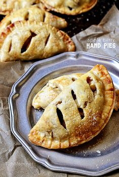 take and go treat Apple Berry Hand Pies | recipe at TidyMom.net