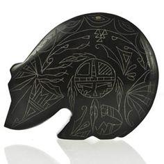 Etched Bear Zuni Fetish Carving
