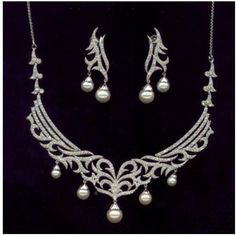 """""""Goddess""""...only $12,800 or P563,200!! Dazzling !!! 7.47ctw Diamond Necklace Set / 14KGold! Imported, world-class quality, not pre-owned, not pawned, not stolen. We deliver worldwide <3"""