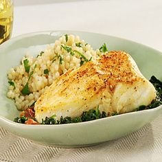 Ok so I can have Bacon, and get only 5g fat, a whopping 37 grams protien and it still be only 214 calories... and not to mention the recipe is EASY. Spanish-Style Halibut | MyRecipes.com