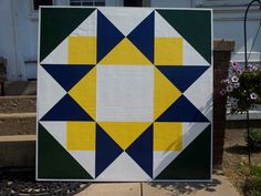 Morning star barn quilt