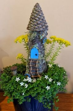 This, that and everything inbetween...this woman knows what a fairy garden is suppose to be! Love her ideas
