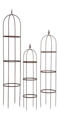 Set of 3 Metal Garden Trellises