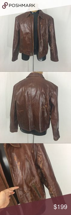 •MENS• J. Crew brown 100% leather bomber jacket This jacket is gorgeous but in need of some tlc. it is an $800 jacket! That my fiancé left in his truck and it got hot and the leather stuck together when I pulled it apart it got those markings/damage and now needs a good cleaning/conditioning/repair. I figured someone might be able to save this gorgeous $800 jacket🙈 last time I buy him something this expensive tho. Size XL J. Crew Jackets & Coats Bomber & Varsity