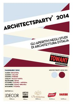 #architectsparty #italia #2014 #flyer #mood #tour #apertitif #party #design #architecture Concept by TOWANT www.towant.eu