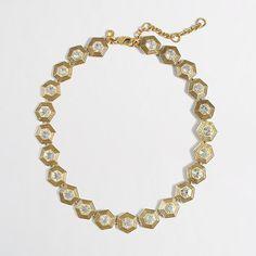 """<ul><li>Zinc casting, glass stones, cubic zirconia.</li><li>Light gold ox plating.</li><li>Length: 15"""" with a 3"""" extender chain for adjustable length.</li><li>Import.</li></ul>"""