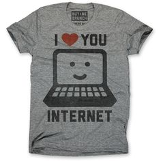 I Love Internet Tee Women's Gray