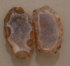 Tabasco Geode 1 Pair Cut and Polished Great for Jewelry 11113
