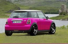 I could totally see me driving this!!! Hot pink Mini, ok!!!