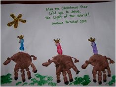 3 WISEMEN IS A GREAT CHILDREN'S CHURCH IDEA...Handprint and Footprint Arts & Crafts: My Top 10 Favorite Christmas Crafts made with hands & feet from around the Web