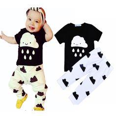 Bobo Choses baby boy clothing set cartoon printed baby girl clothes black T-shirt + pants baby girl clothing set vetement ropa