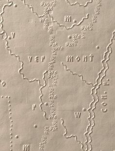 Vermont Mountains. Detail from The Atlas of the United States Printed for the Use of the Blind by S.G. Howe, 1837.