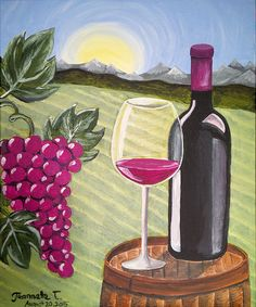 Wine Country at Woodrows (Tribeca) - Paint Nite Events