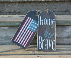 Front door decoration.  American flag front by MoonenDavisdeSIGN