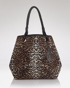 Elie Tahari 'Jamie' Hobo Purse Bag in 100% Calf Hair Leopard Print  NWT $698 #ElieTahari #Hobo