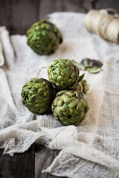 Artichokes--do remember eating these for the first time in my life in 1976, as my hostmother Arleen prepayed these wonderfully <3