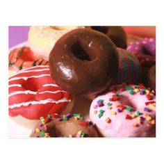 Colorful Donuts Postcard