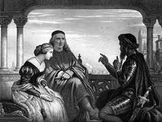 Charles W. Cope. Othello Relating His Adventures, 1853. Steel engraving 7.5 x 10 in.